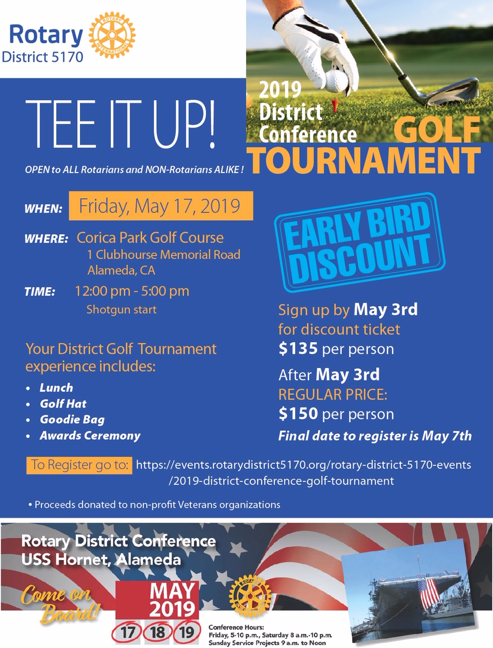 2019 RDC Golf Tee it up flyer final
