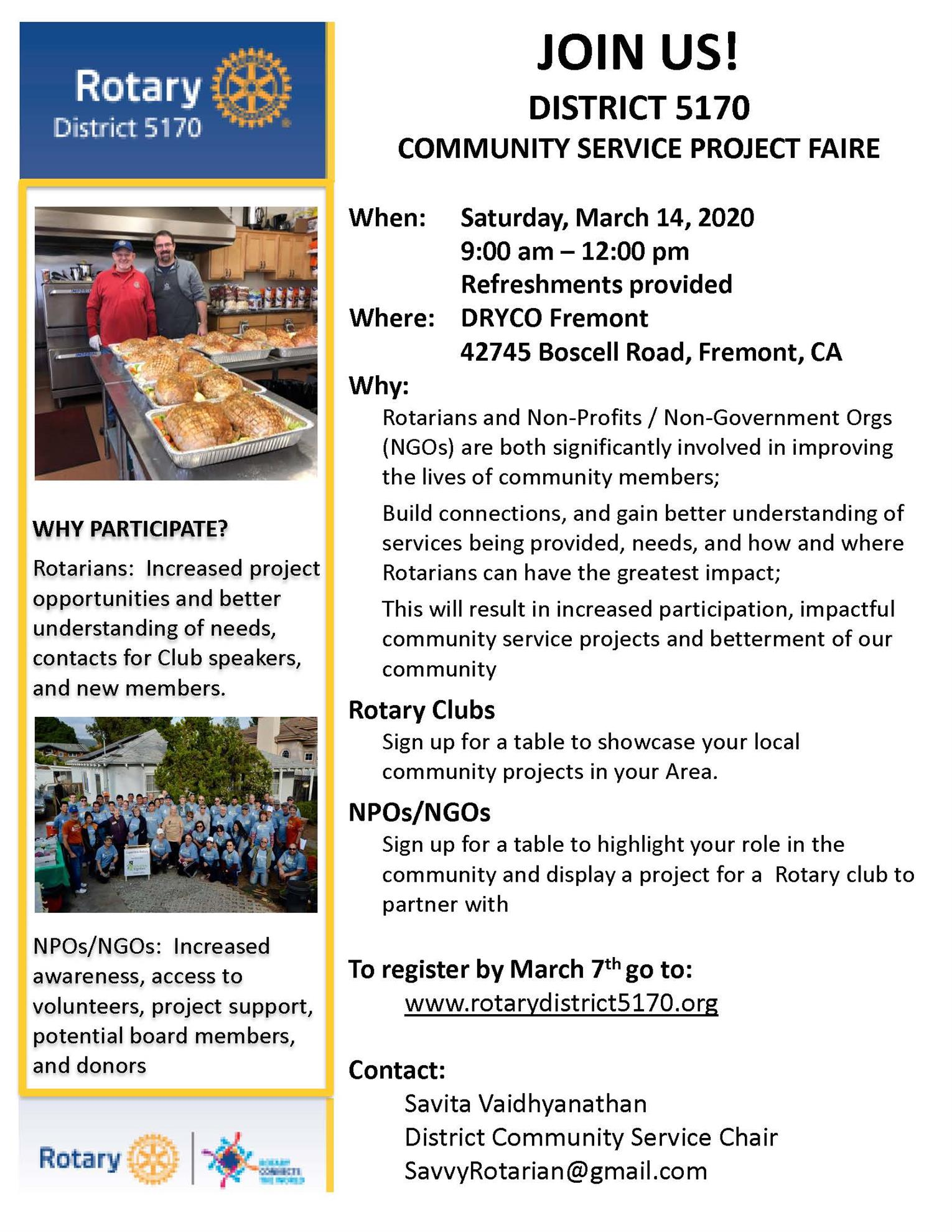 Community Service Project Faire Flyer updated